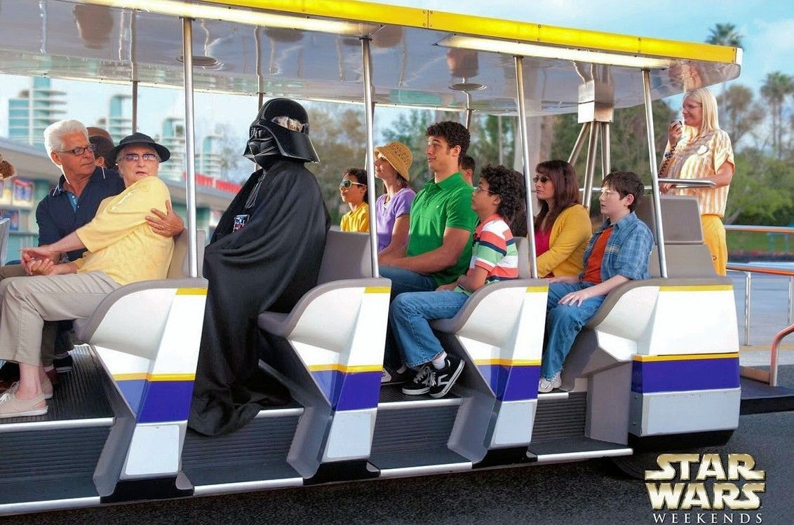 Darth Vader on the Hollywood Studios shuttle
