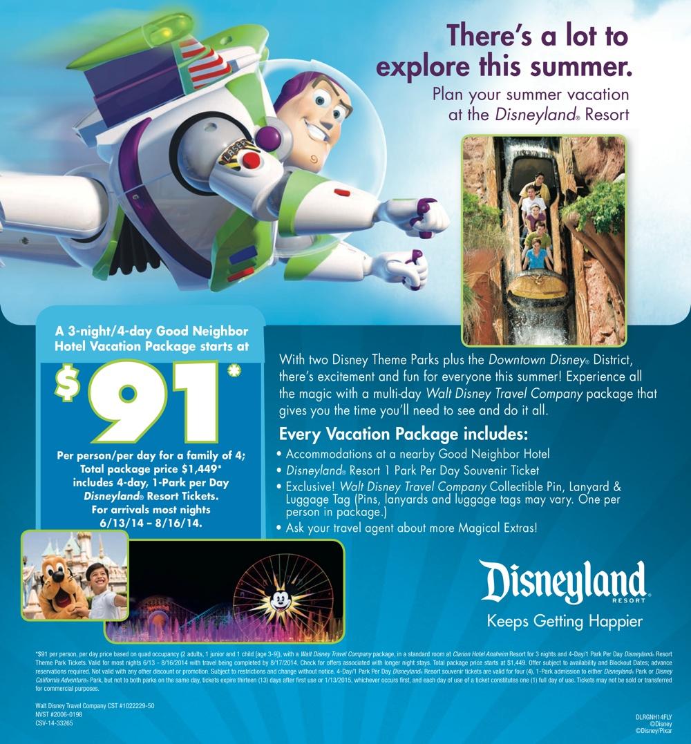 Disneyland Summer Discount