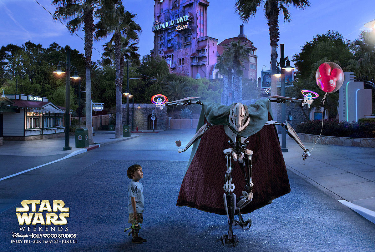 General Grievous with a Mickey Balloon.