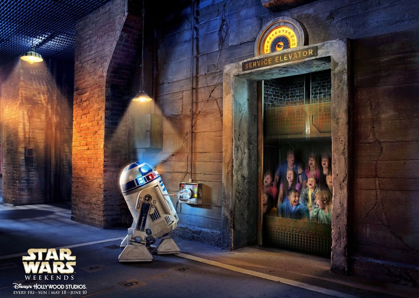 R2-D2 on the Tower of Terror