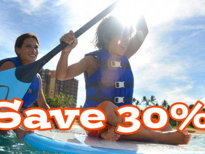 Save 30% at Aulani August 16 – December 21, 2015