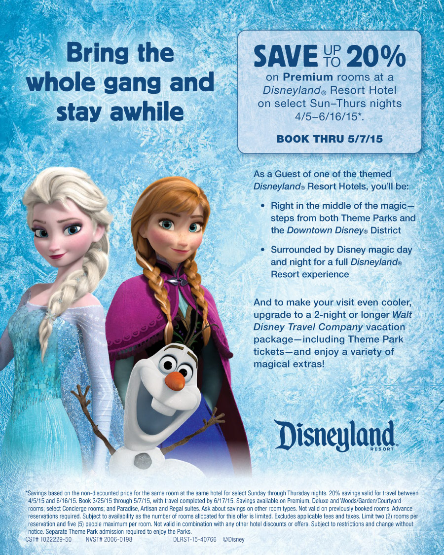 disneyland frozen discount