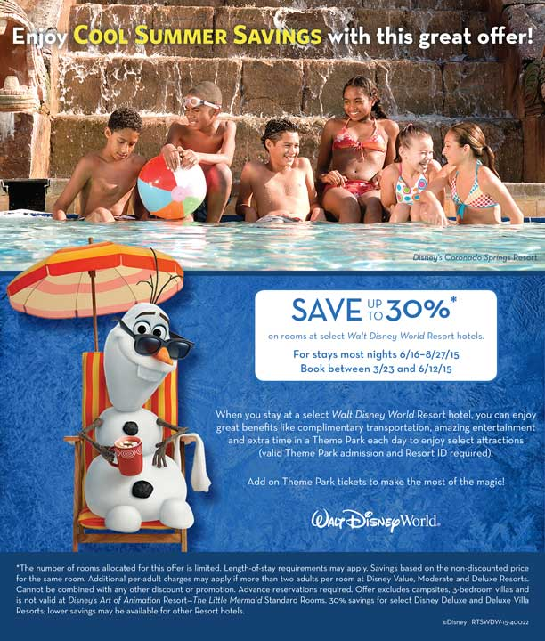 disney world summer discount