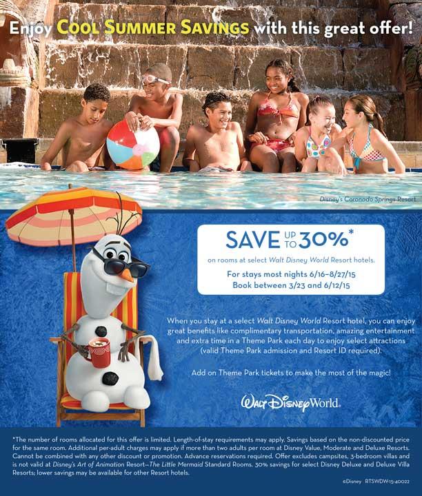 disney world summer discount