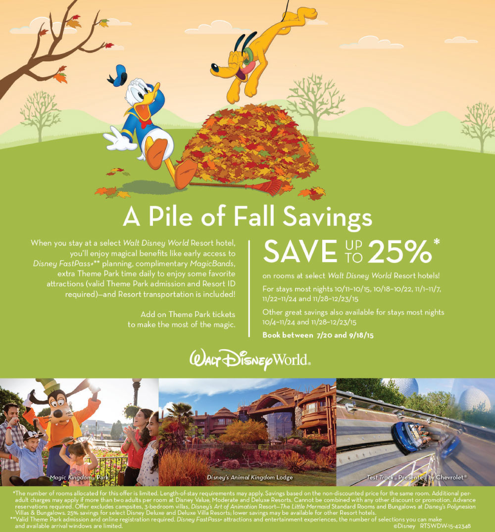 Walt Disney World Fall Discount